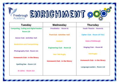 Enrichment Timetable2