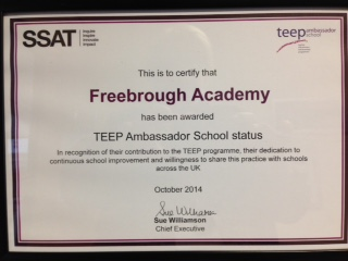 Freebrough Awarded TEEP Ambassador Status