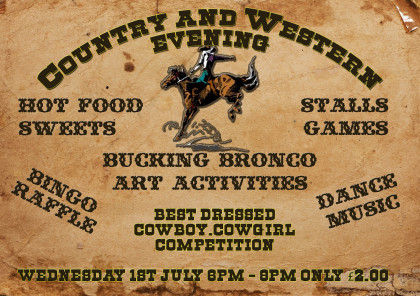 country and western poster